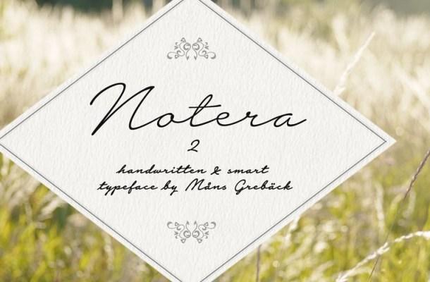 Notera 2 Handwritten Script Font Family