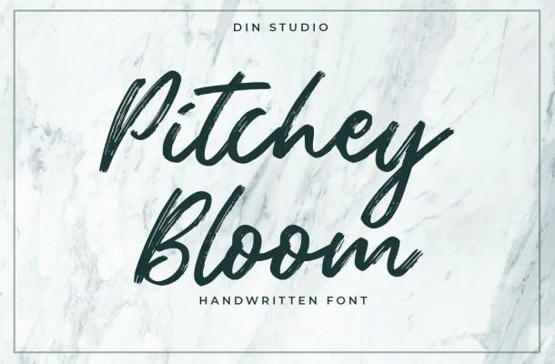 Pitchey Bloom Brush Script Font