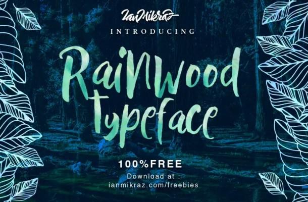 Rainwood Handmade Painting Style Font
