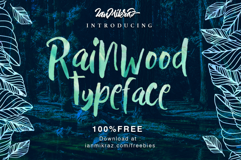 Rainwood Handmade Painting Style Font-1