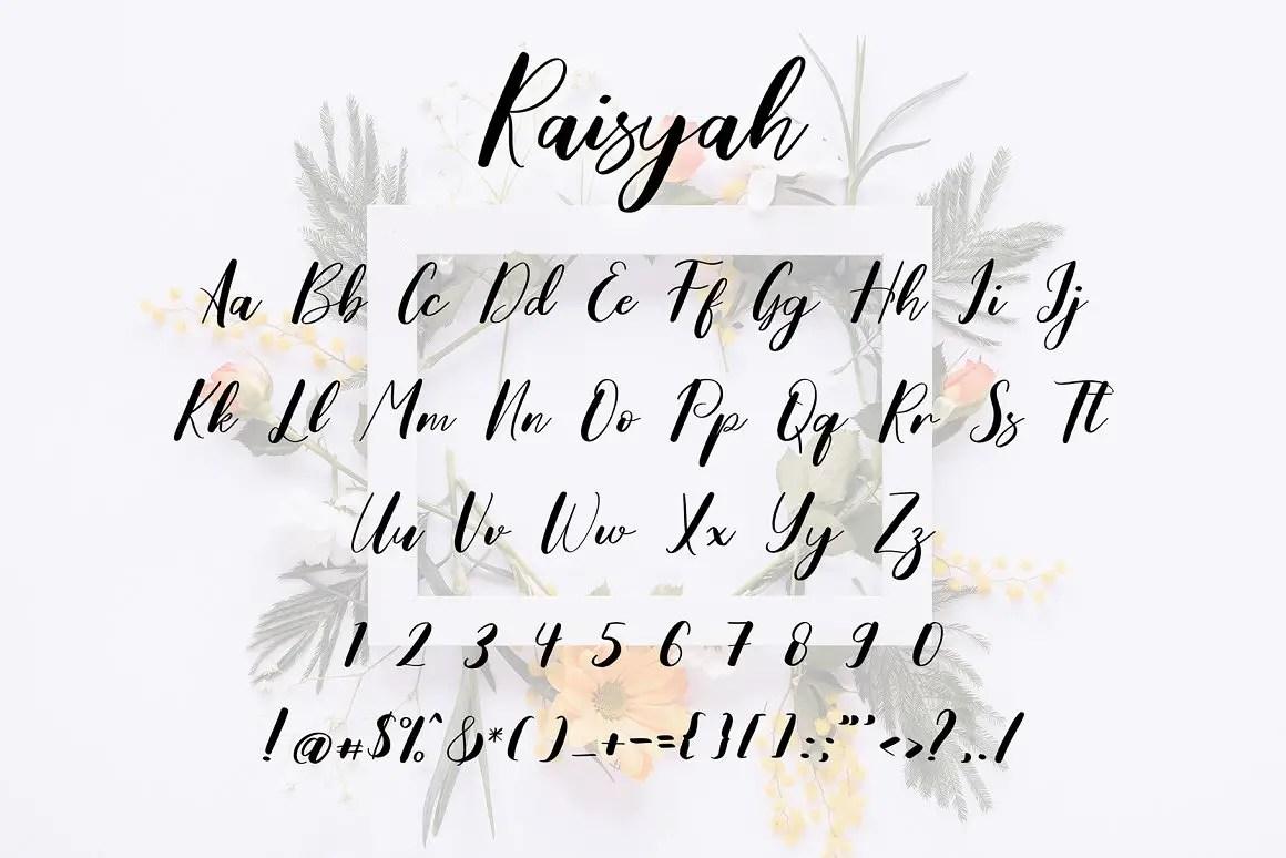 Raisyah Calligraphy Script Font-3