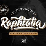 Raphtalia Stylish Script Font
