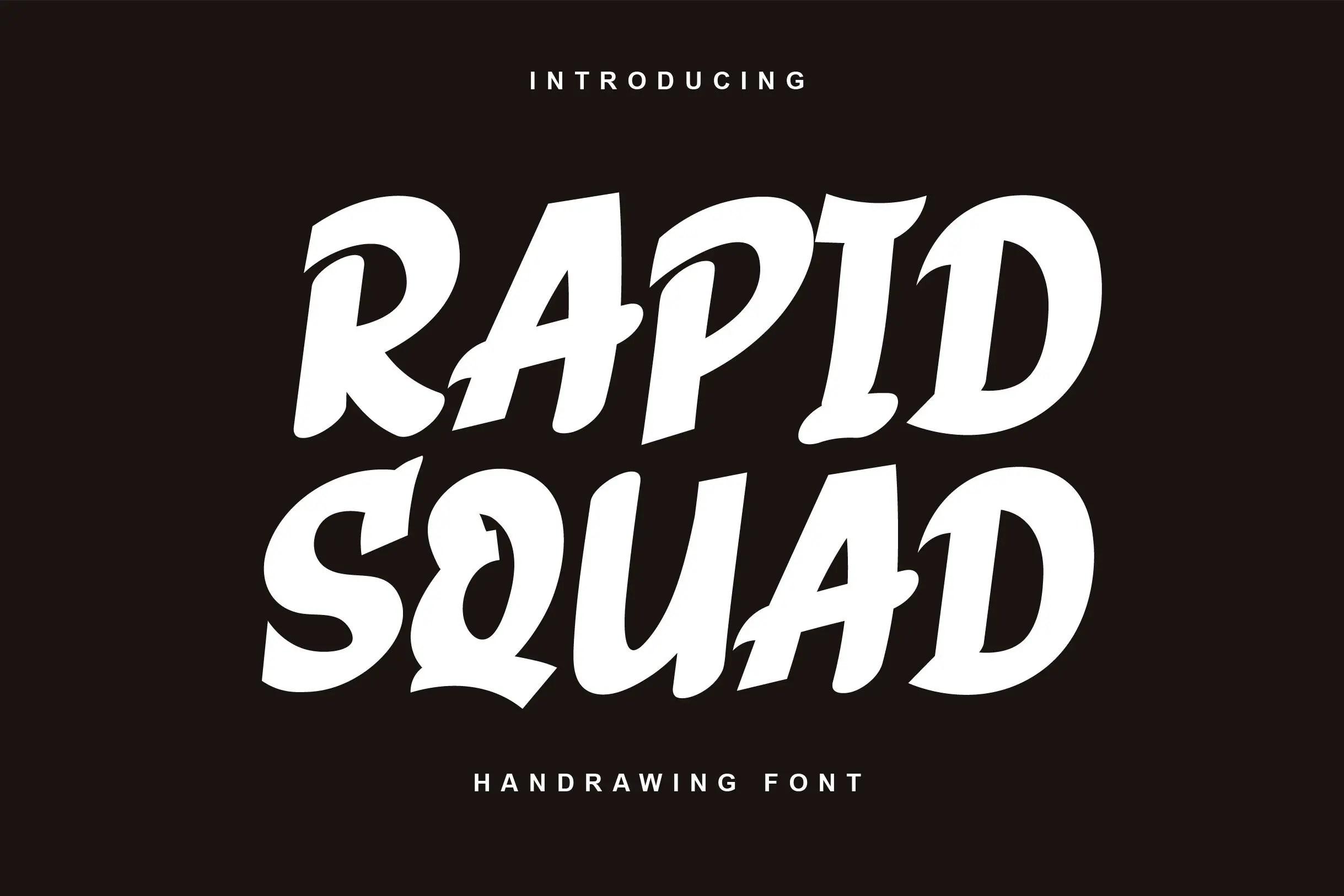 Rapid Squad Display Font-1