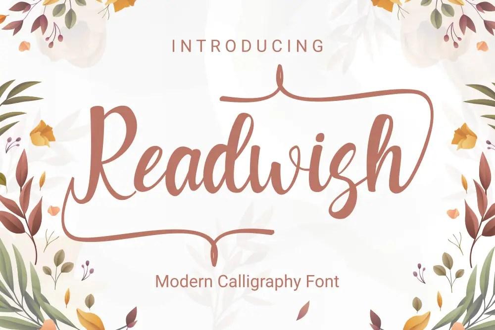 Readwish Calligraphy Script Font-1
