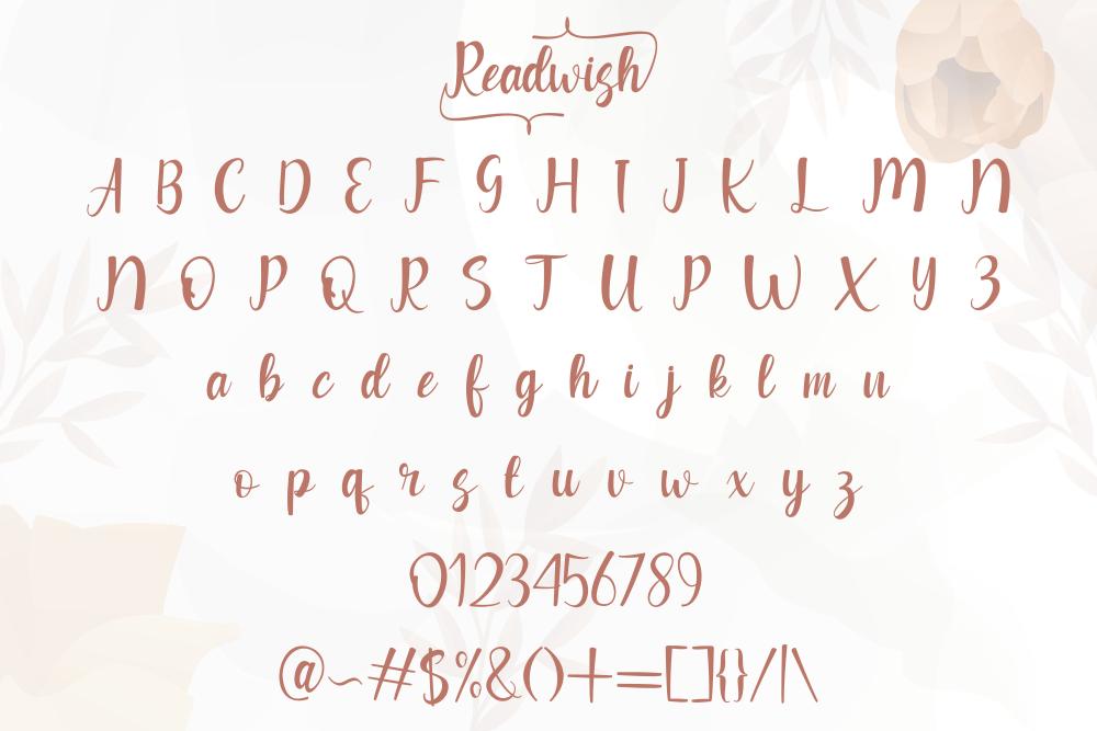 Readwish Calligraphy Script Font-3