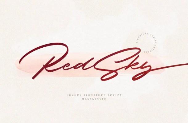 RedSky Luxurious Signature Script Font