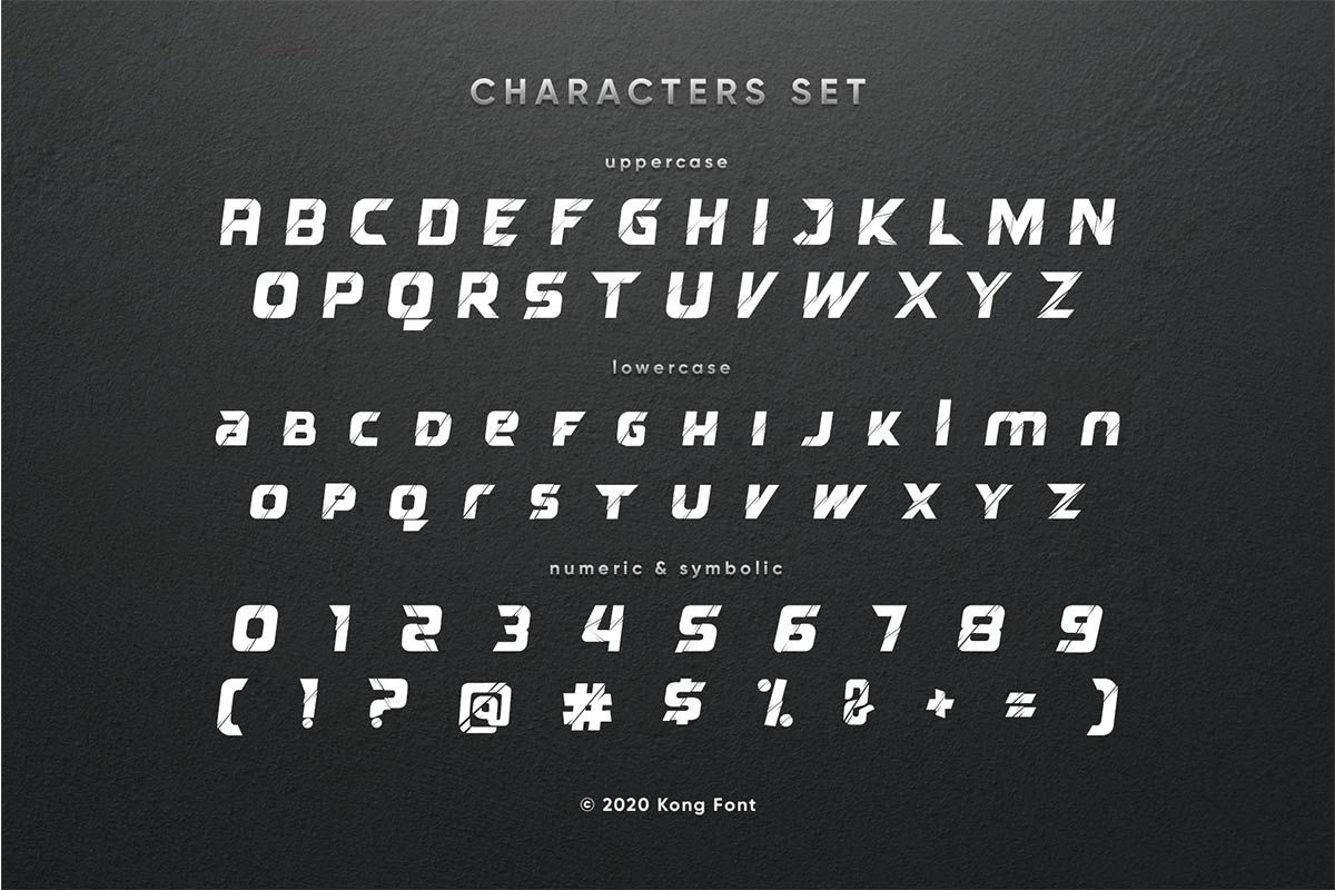 Reflected Display Typeface-3