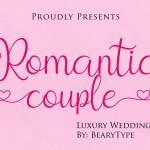 Romantic Couple Handwritten Script Font