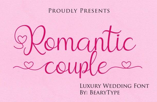 Romantic Couple Handwritten Script Font