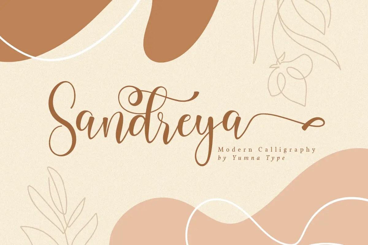 Sandreya Modern Calligraphy Font-1