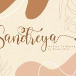 Sandreya Modern Calligraphy Font