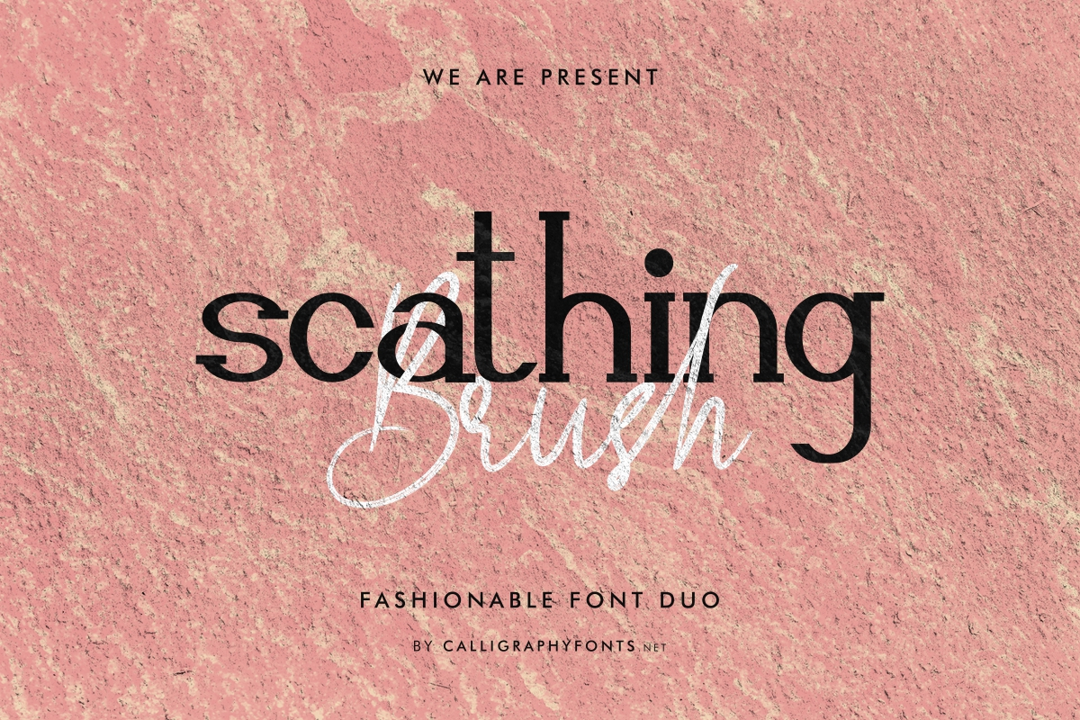 Scathing Brush Font Duo-1