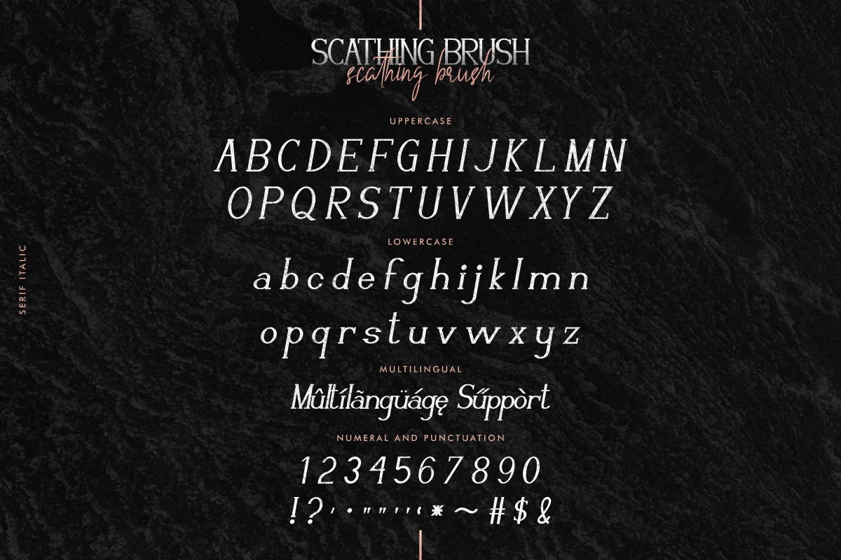 Scathing Brush Font Duo-3