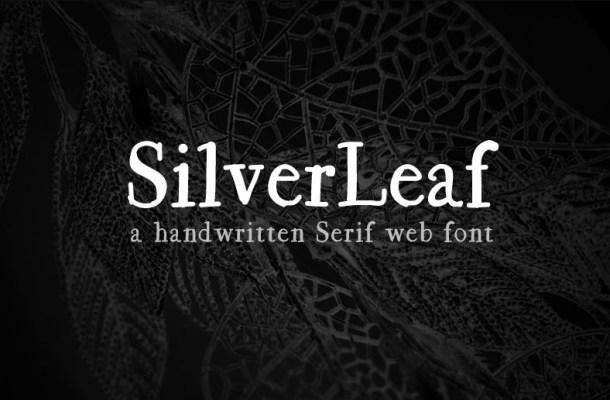 SilverLeaf Handwritten Serif Font