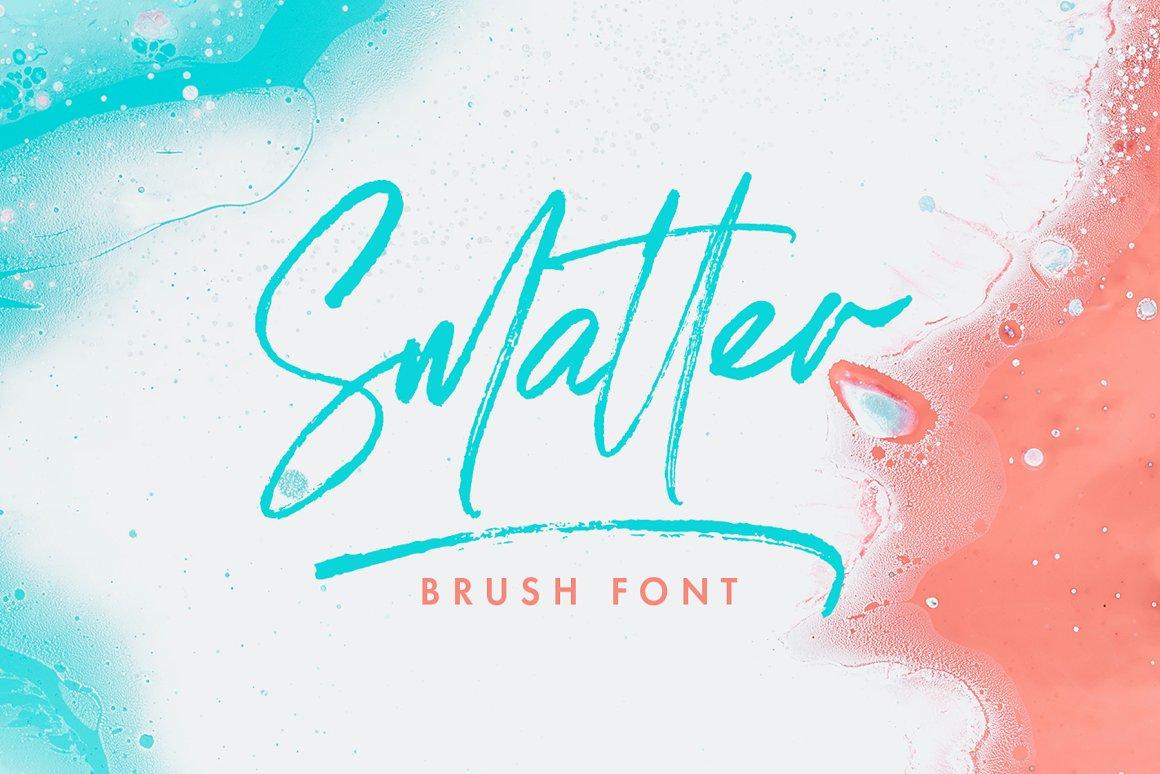 Smatter Brush Script Font-1