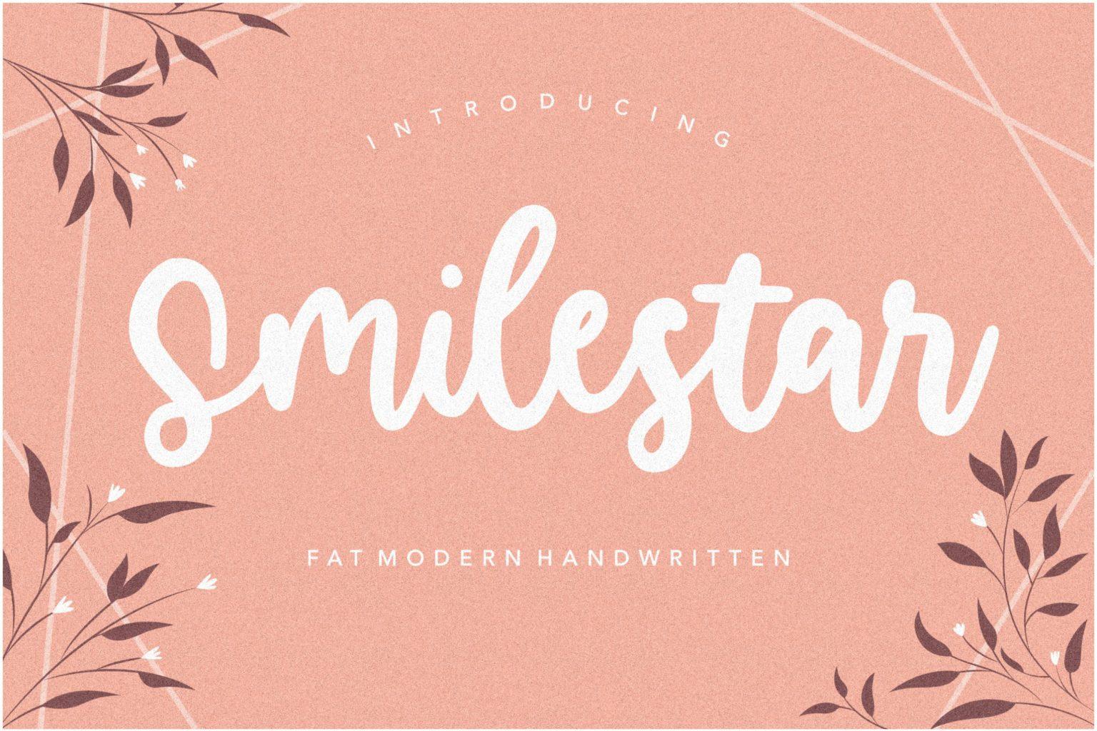Smilestar Modern Handwritten Font-1