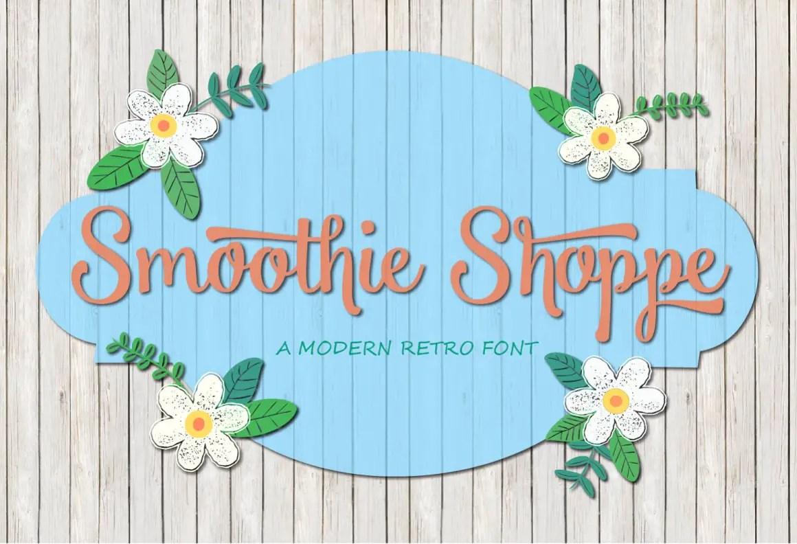 Smoothie Shoppe Script Font-1