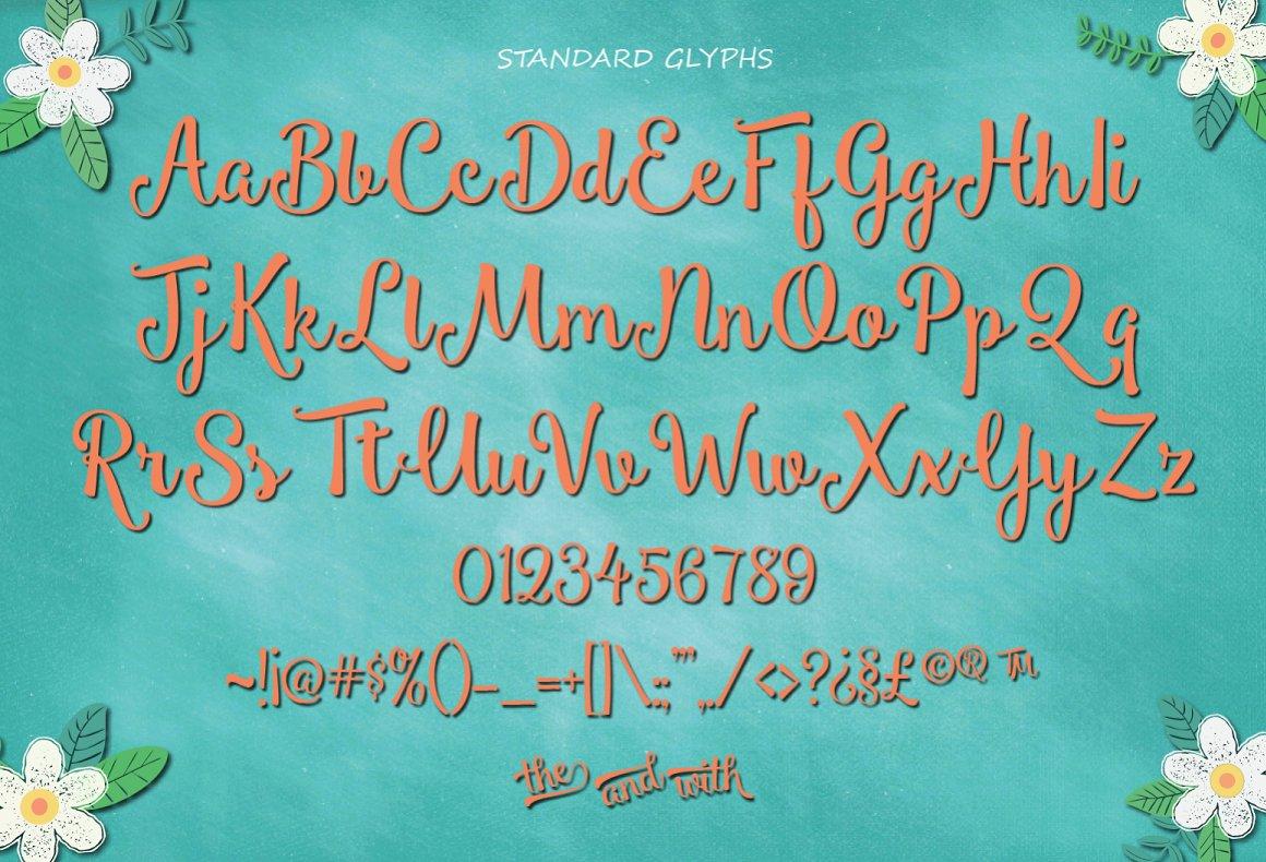 Smoothie Shoppe Script Font-3