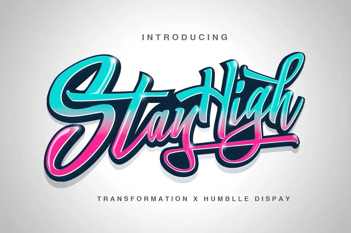 Stay High Handwritten Script Font-1