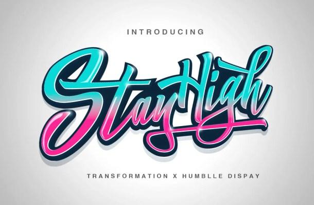 Stay High Handwritten Script Font