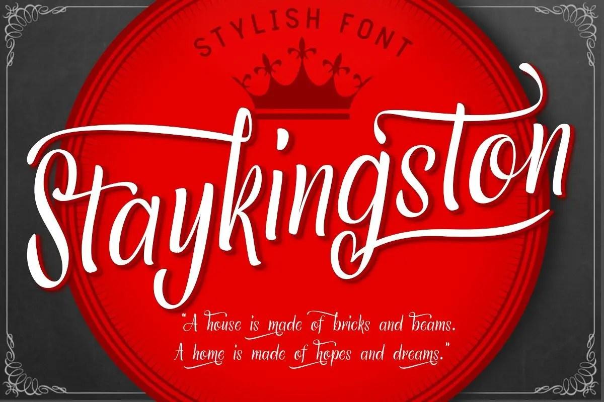 Staykingston Script Calligraphy Font-1