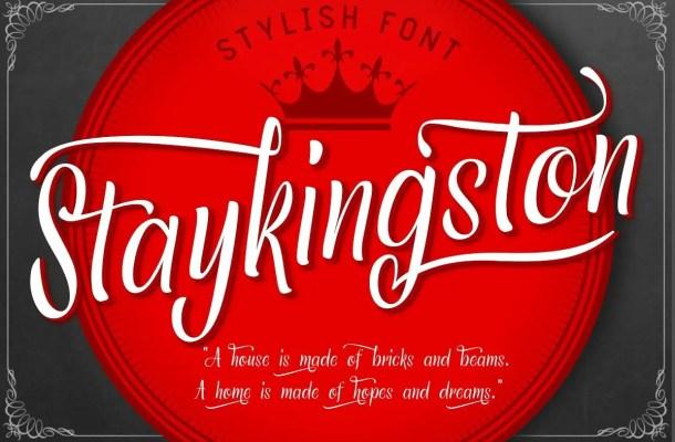 Staykingston Script Calligraphy Font