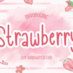 Strawberry Handwritten Script Font
