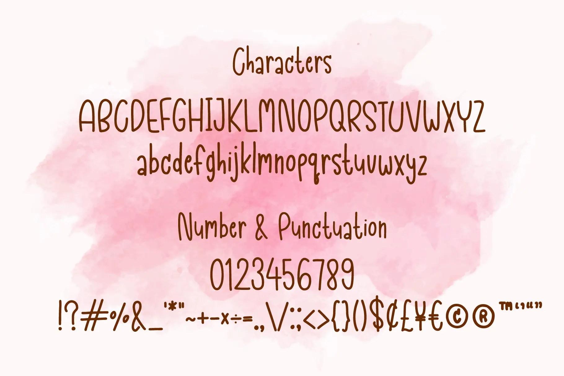 Strawberry Handwritten Script Font-3