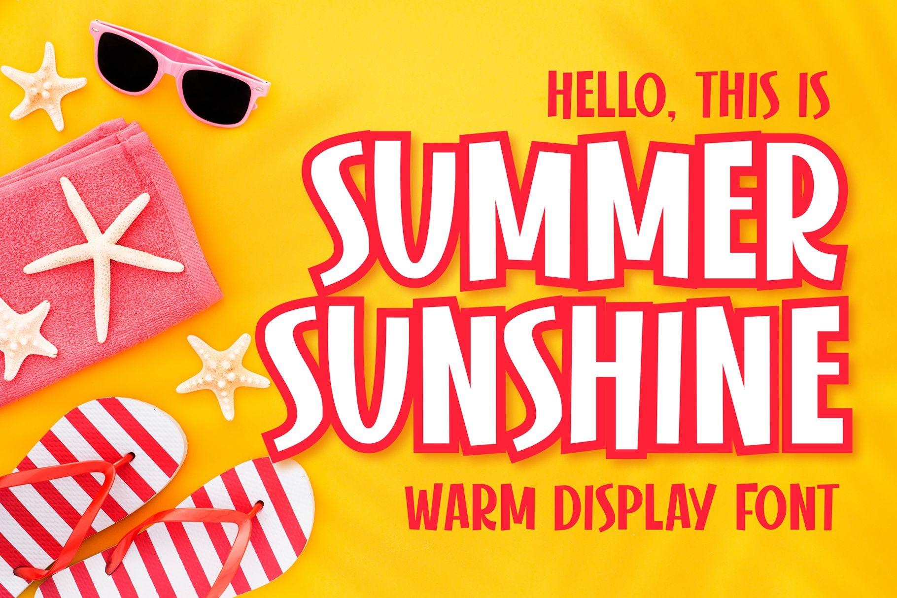 Summer Sunshine Display Font-1