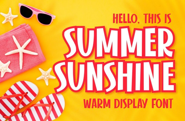 Summer Sunshine Display Font