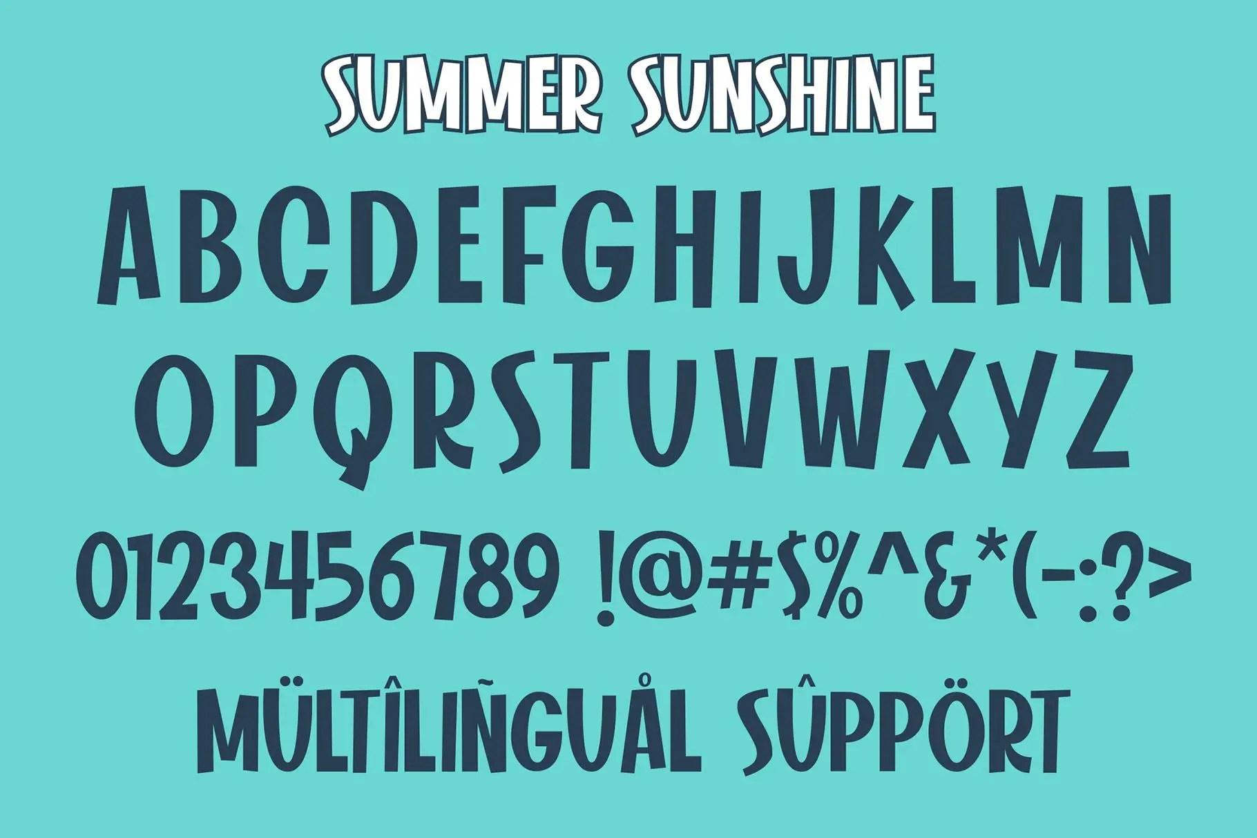 Summer Sunshine Display Font-3