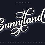 Sunniland Calligraphy Script Font