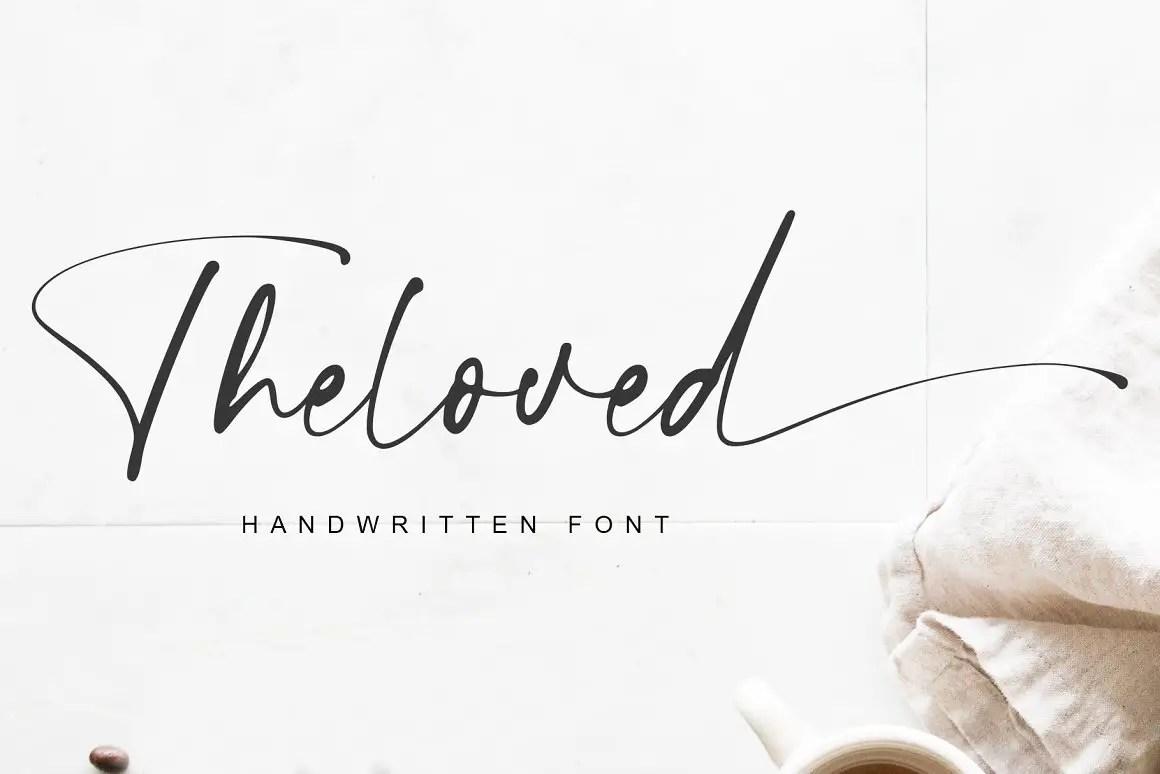 Theloved Handwritten Script Font-1