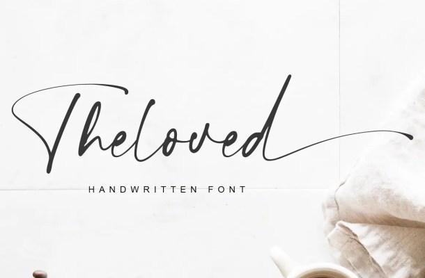 Theloved Handwritten Script Font
