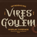 Vires Gollem Display Typeface