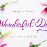 Wonderful Day Romantic Calligraphy Script Font