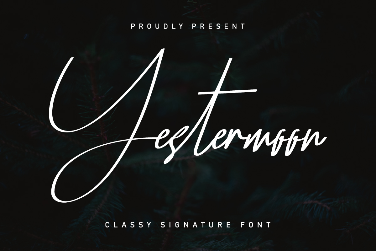 Yestermoon Calligraphy Script Font-1