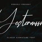 Yestermoon Calligraphy Script Font