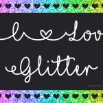 Mf I Love Glitter Handwritten Script Font