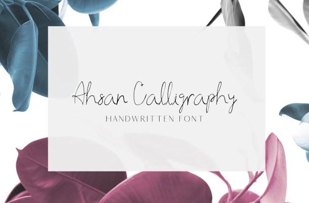 Ahsan Calligraphy Script Font
