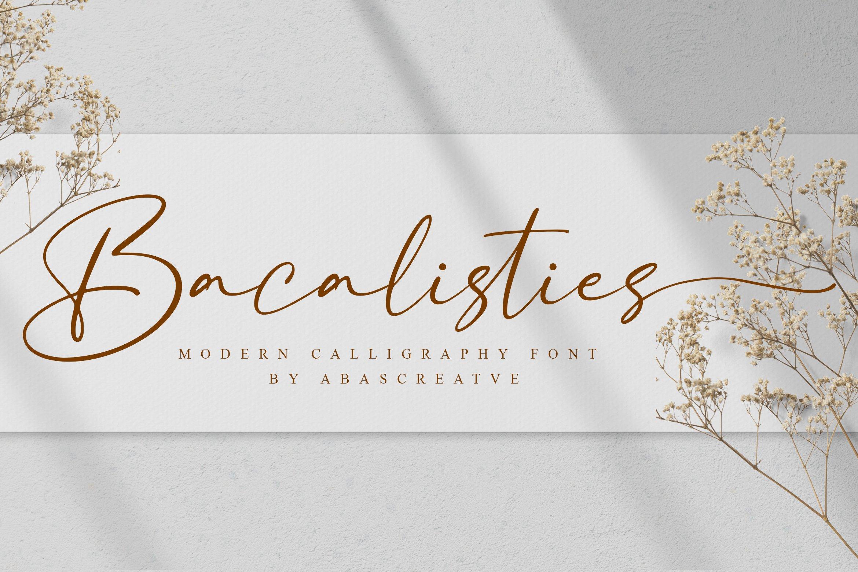 Bacalisties Handwritten Script Font-1