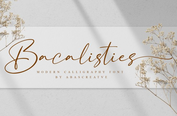 Bacalisties Handwritten Script Font