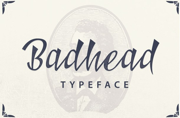 Badhead Script Handwritten Typeface