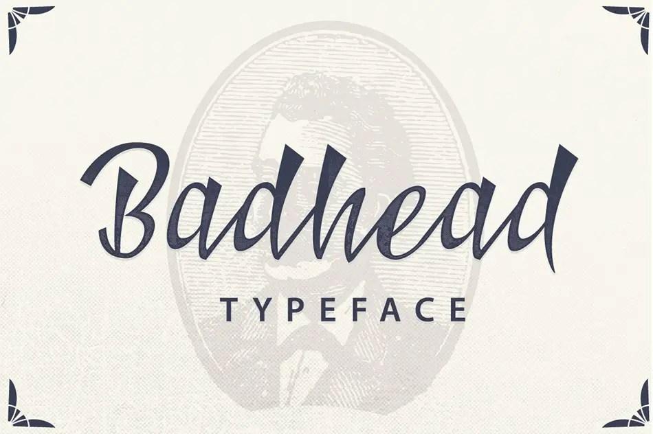 Badhead Script Handwritten Typeface-1