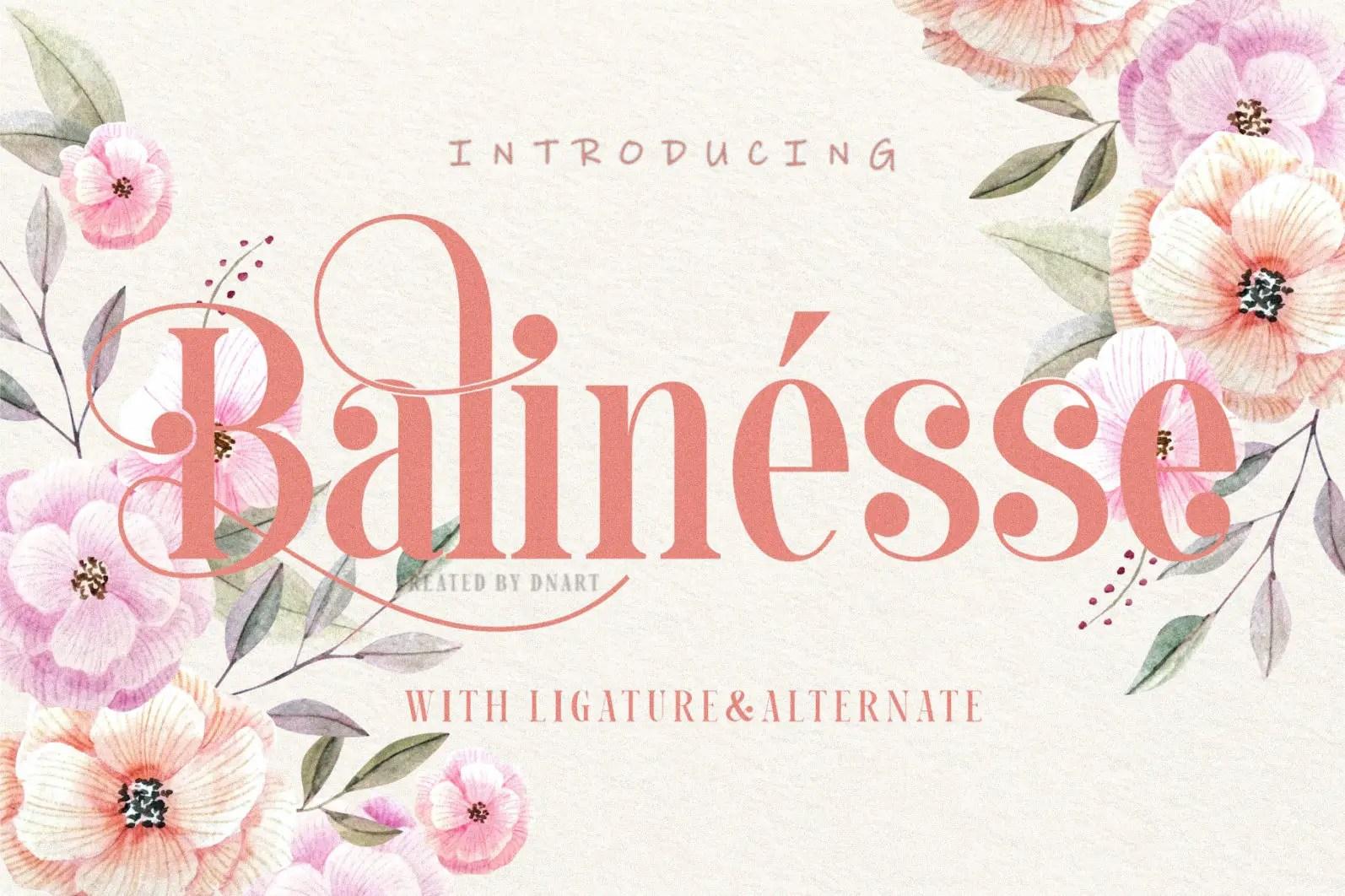 Balinesse Serif Font-1