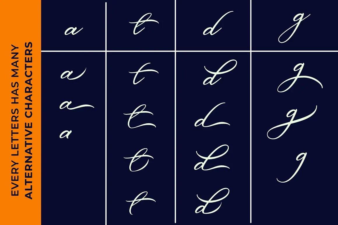 Belgian Signature Script Calligraphy Font-3
