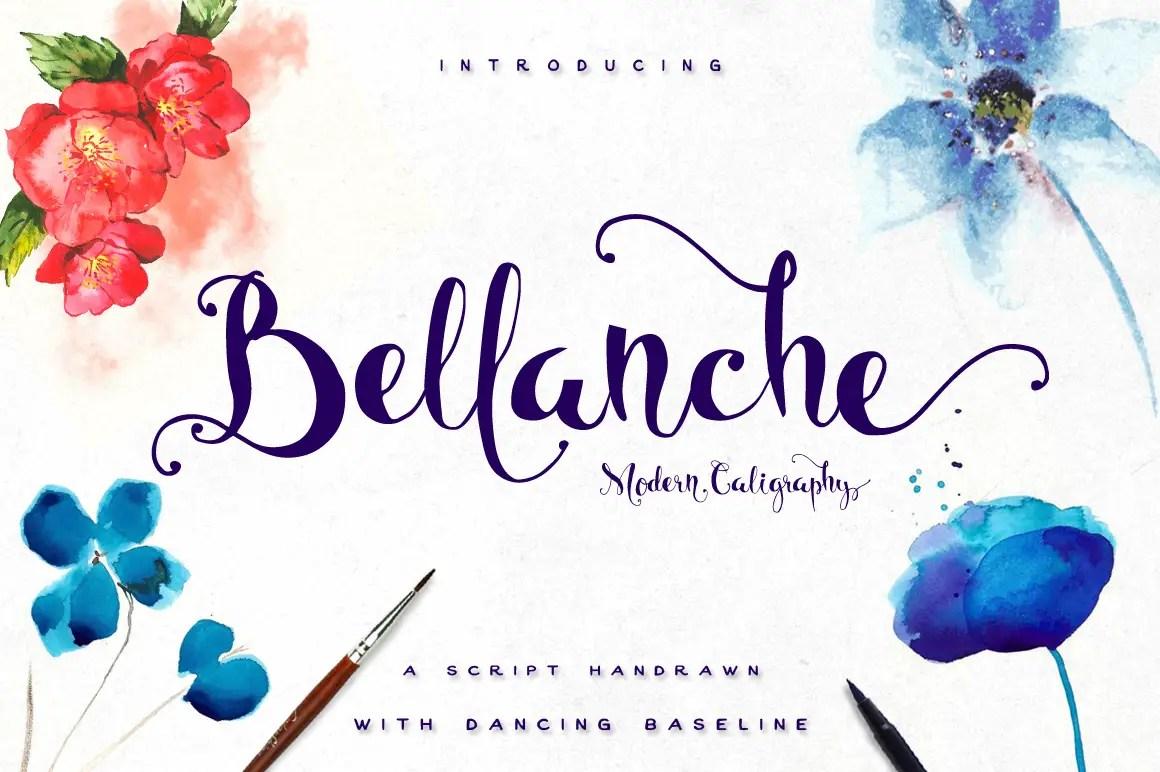 Bellanche Script Calligraphy Font-1