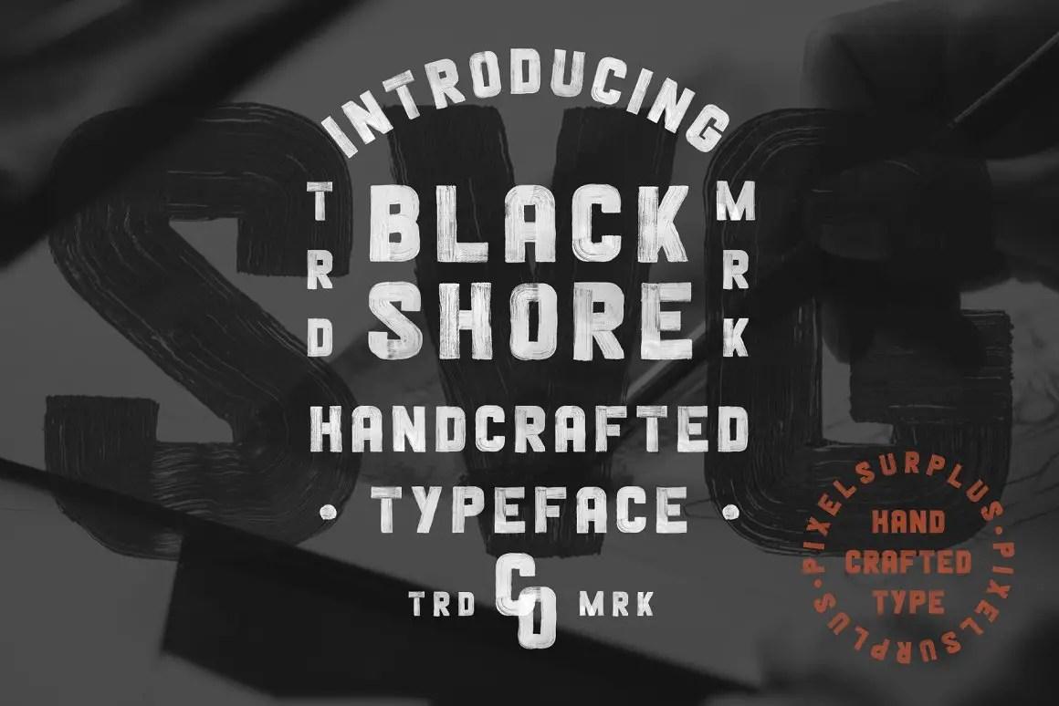 Blackshore Hand Painted SVG Display Font-1