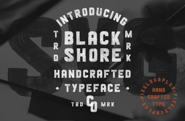 Blackshore Hand Painted SVG brush Font