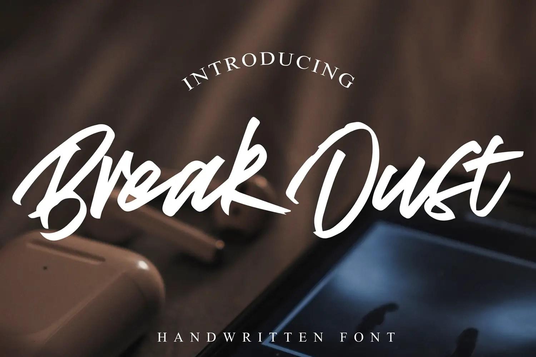 Break Dust Script Brush Font-1